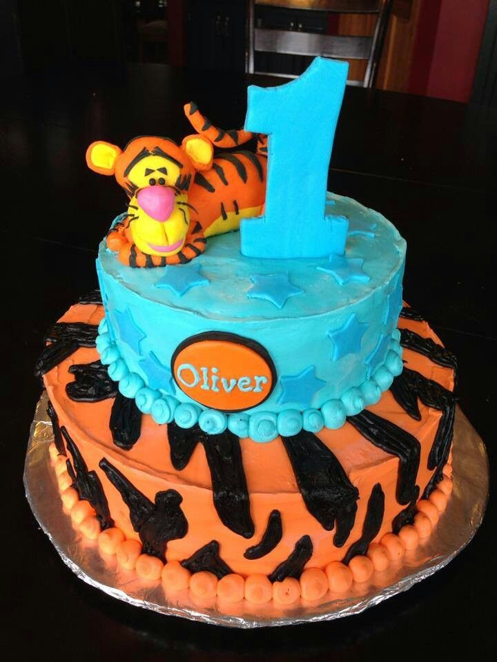 Tigger Birthday Cake Amys Custom Cakes Etc Pinterest