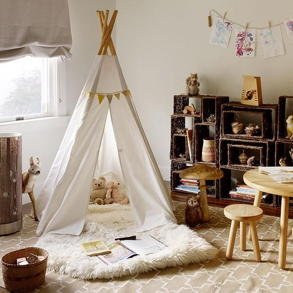Wigwam Tents Blending Kids Playroom Ideas into Cozy
