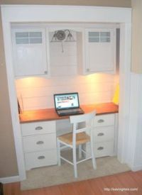 25+ best ideas about Closet Desk on Pinterest | Closet ...