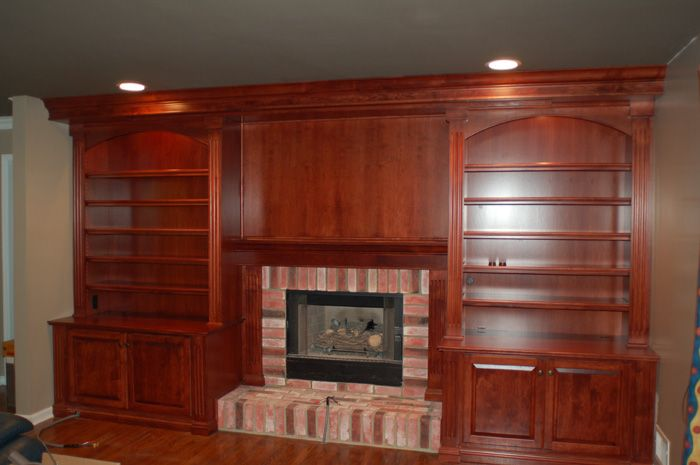 Bungalow Fireplace Mantel Bookcase Plans Around Fireplace - Woodworking Projects & Plans
