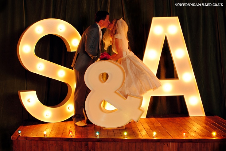 Giant Vintage Style Light Up Letters To Hire! Pick Your