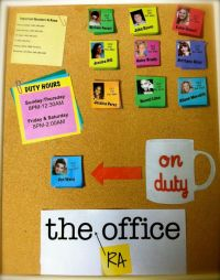 The (RA) Office Duty Board | RA Bulletin Board Ideas ...