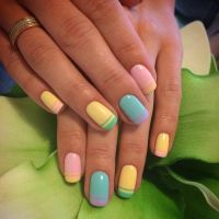 25+ best ideas about Colorful French Manicure on Pinterest ...