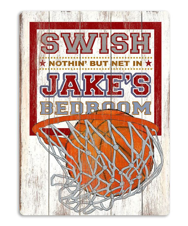 Artehouse Basketball Hoop Swish Personalized Sign