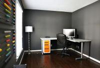 Grey walls with dark wood floors (like we have). Good info ...