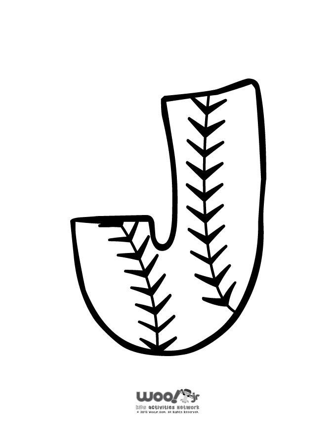 Printable Baseball Alphabet Letters Baseball Alphabet