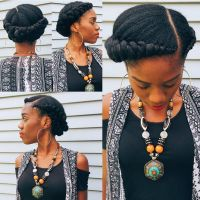 Crown Braids done by London's Beautii located in Bowie, MD ...