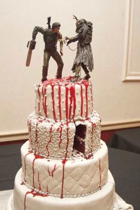 Evil Dead cake Tu ne trouveras jamais le Necronomicon   Id love this as a wedding cake