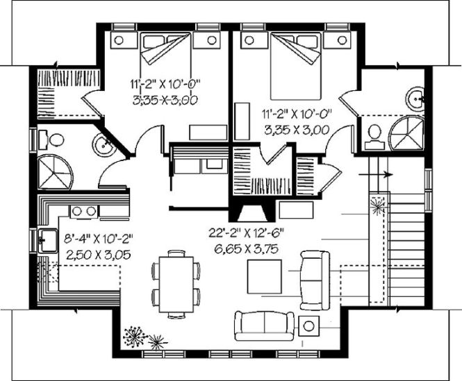 25 Best Ideas About 2 Bedroom Apartments On Pinterest House Plans Floor And Small