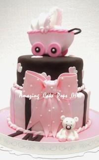 3D Stroller Cake for New Born Baby Girl | Fancy Cakes ...