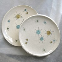 Set of Two Fraciscan Atomic Starburst Dinner Plates ...