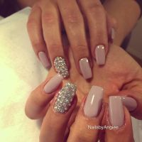 Full set acrylic with light purple OPI nail polish and ...