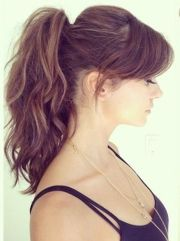 gorgeous high ponytail with side