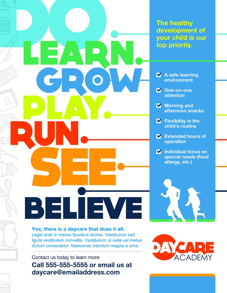 MARKETING Childcare Poster Marketing Communications