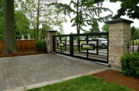 Decorating: Awesome Terrace With Modern Iron Fences Design ...