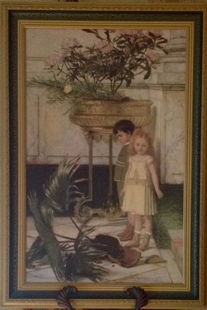 Jan Verhas Broken Flower Pot Framed Large Lithograph Print