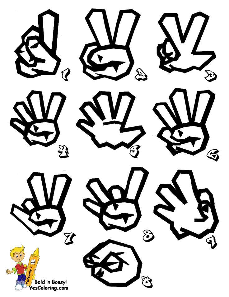 Printable Sign Language Alphabet in Graffiti. Free Cool