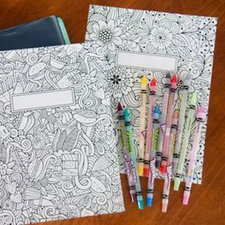 FREE Printable binder covers to color for back-to-school - they're gorgeous!: