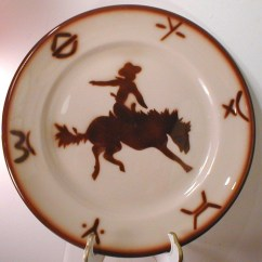 Western Kitchen Decor How To Refinish Cabinets Vintage Jackson China Cowboy & Bronc Restaurant ...