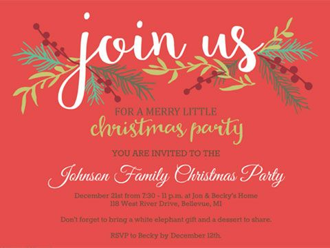 46 Best Images About Christmas Party Invitations On