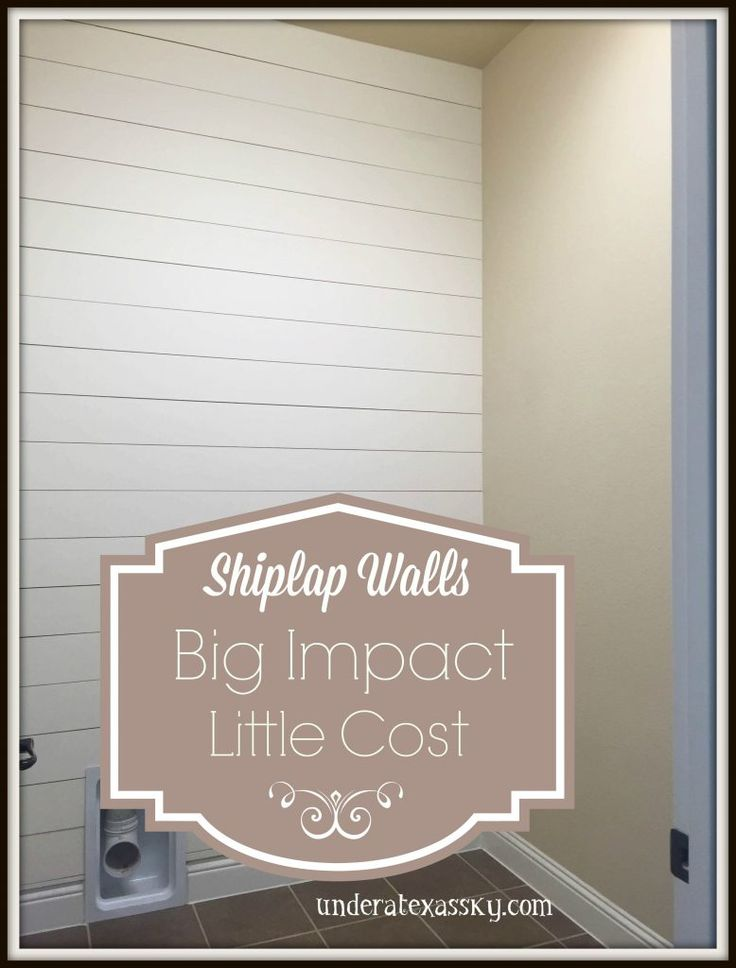 Shiplap Wall  Bathroom Decor  Pinterest  Walls and