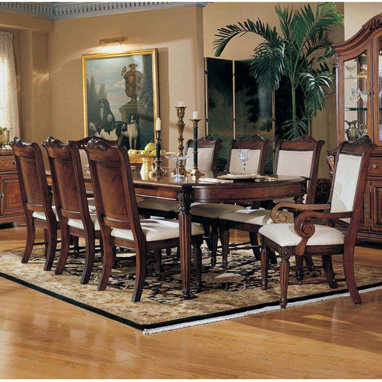 round kitchen table and chairs set desk chair non swivel broyhill dining room furniture | ... formal sets corbella