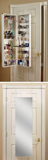 Over-the-door makeup + beauty storage cabinet // clever ...