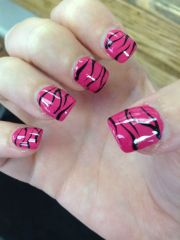 zebra print nail design nails