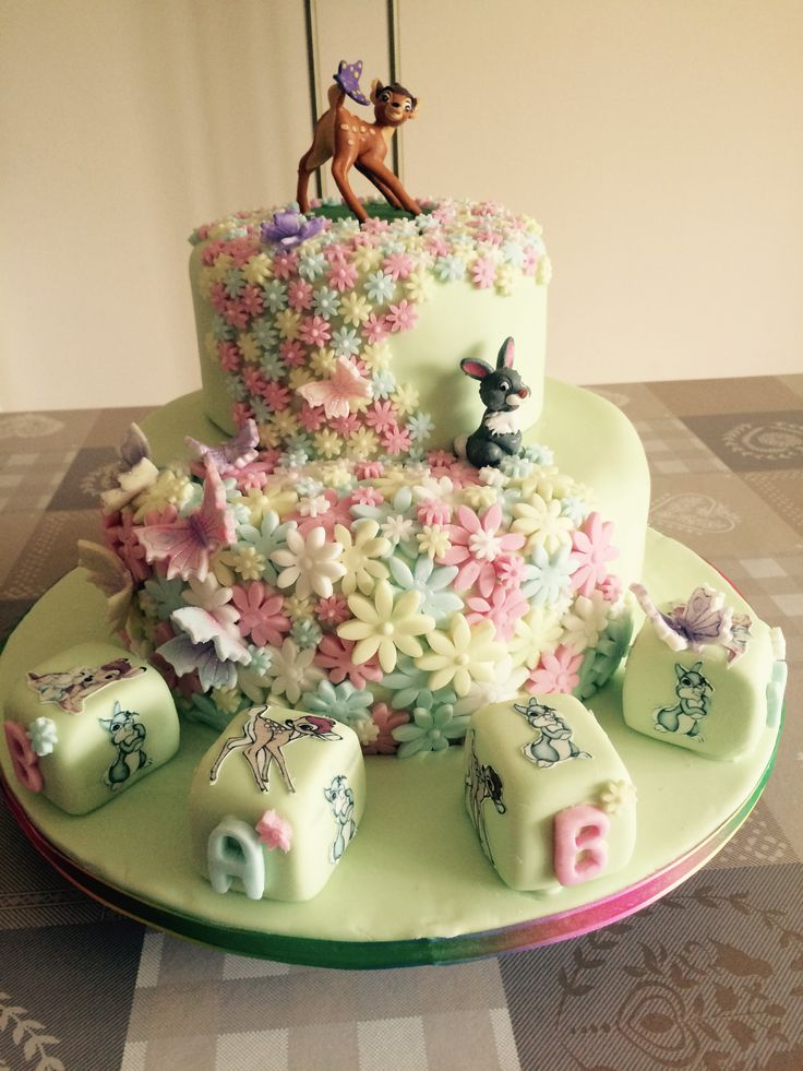 Bambi and Thumper Baby Shower Cake by Sweet Treats Celebration Cakes  Baby Stuff  Pinterest