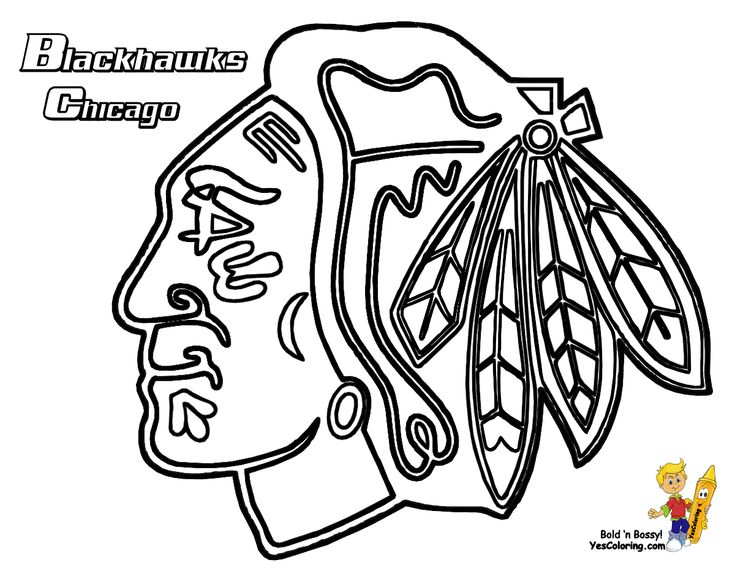 Chicago Blackhawks Coloring Page. Get the other hockey
