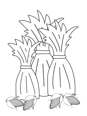 Corn stalks, Coloring pages and Thanksgiving coloring