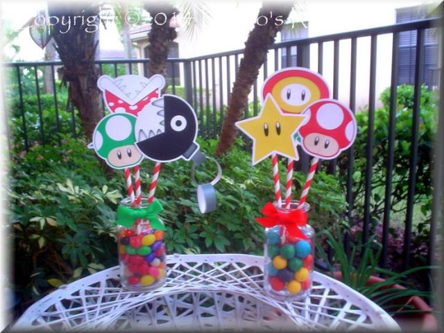 Mario bros party centerpieces what i love to create