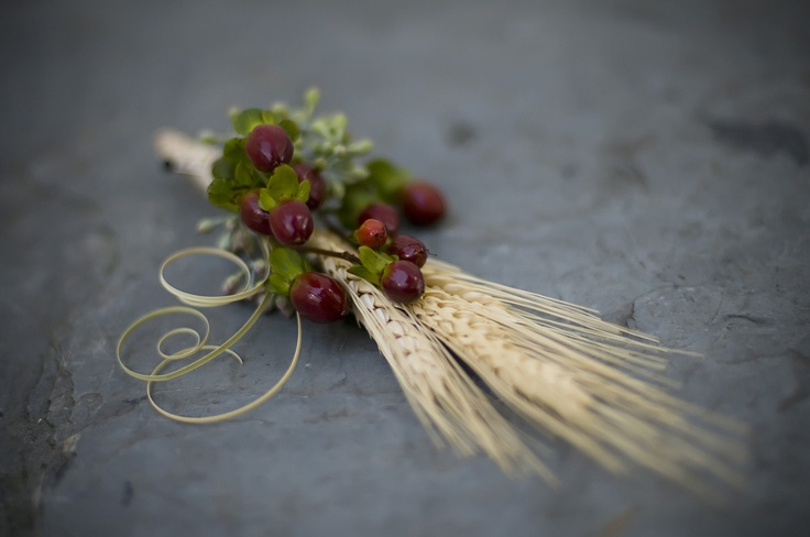 Fall Wedding Boutonniere Love The Wheat & The Slightly