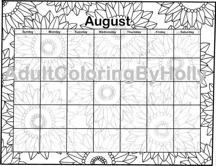 25+ best ideas about August calendar on Pinterest