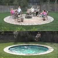 GardenBeamFlower: Hidden Water Pool. SO freakin cool ...