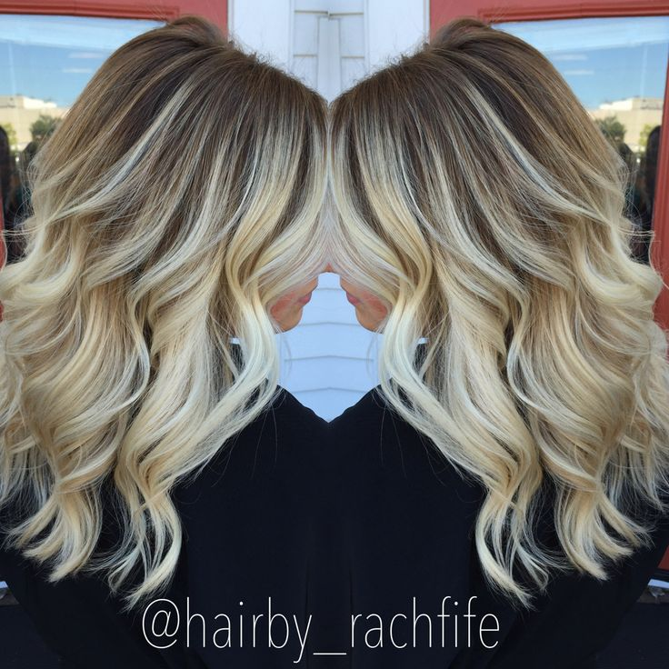Stretched Root Balayage Ombre Bright Blonde Hair Hair By