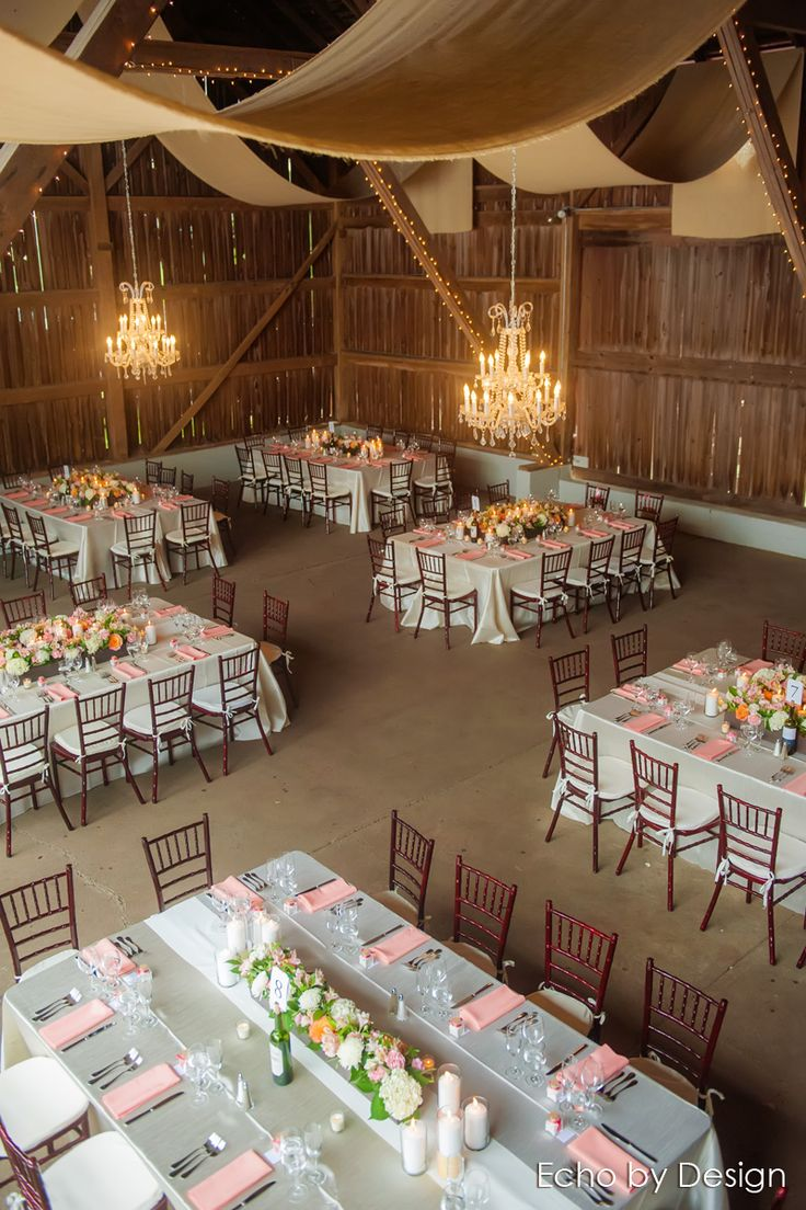Rustic coral and champagne color wedding at the Willow