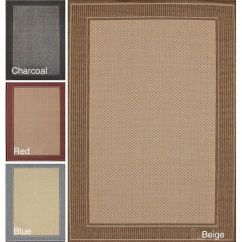 Grey Living Room Area Rugs Ideas With Dark Leather Sofa Nuloom Solid Border Outdoor/ Indoor Rug (9' X 12') By ...