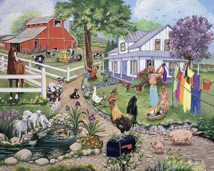 Puppies In Fall Wallpaper Spring On The Farm Sandy Rusinko Art Amp Illustrations