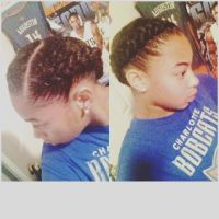 Natural Hair Protective Style - French Braids | protective ...