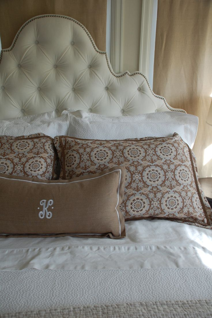 1000 ideas about Pillow Headboard on Pinterest  White