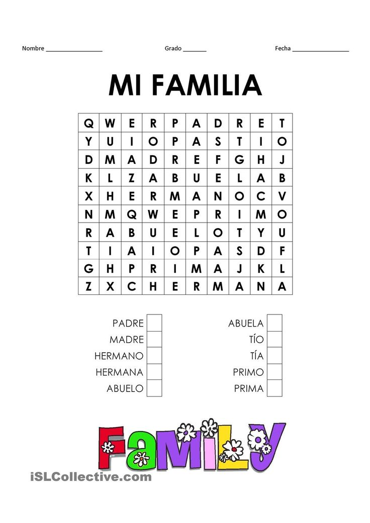 1000+ ideas about Spanish Worksheets Family on Pinterest