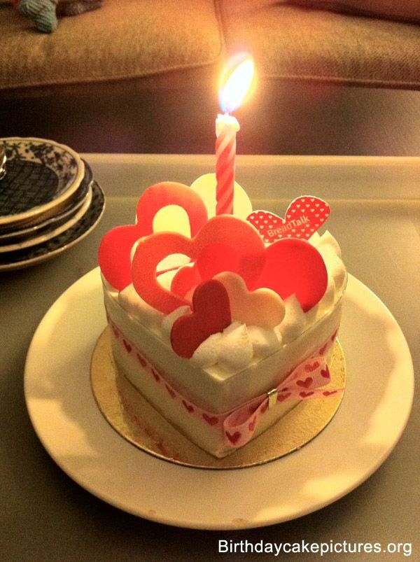 Birthday Cake Love With Candle Birthday Cake Pinterest Beautiful Love Images And Birthday