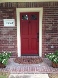 Door color is Front Door Red by Valspar. Front door ...