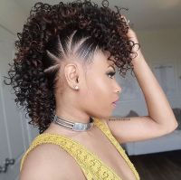 25+ best ideas about Black hair mohawk on Pinterest