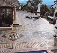 Not THIS tile, but the concept of patterned tile flooring ...