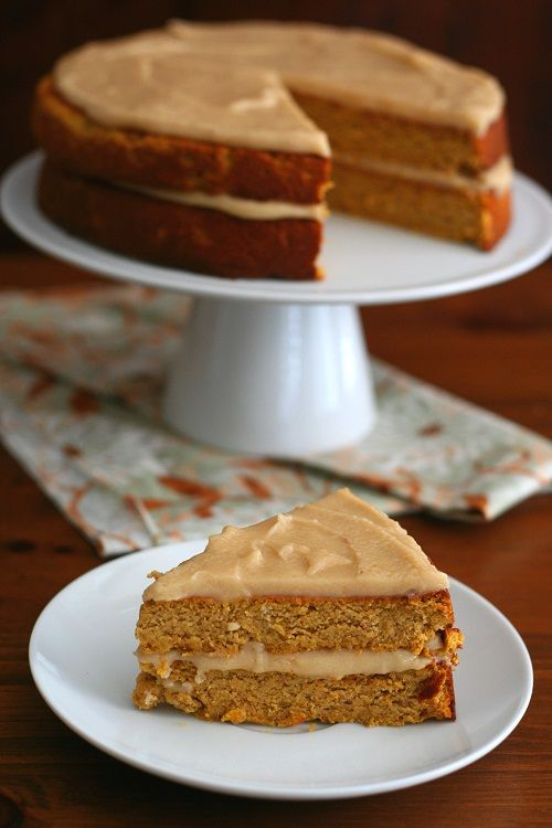 Pumpkin Spice Cake with Brown Butter Frosting Low Carb