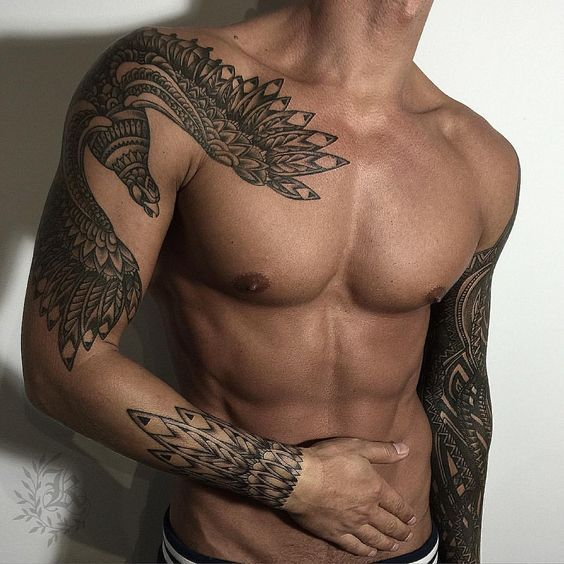 25+ Best Ideas About Men Tribal Tattoos On Pinterest