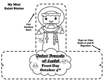 Catholic saints, Calendar activities and Saint francis on