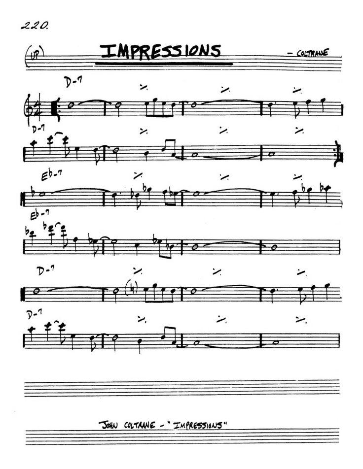 Impressions  John Coltrane  Jazz  Pinterest  Book And
